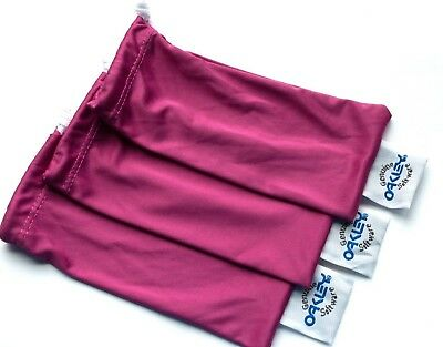 Oakley 3 Pack Pink Special Edition Micro Fiber Sunglass Cleaning Storage Bags