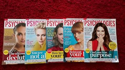 Psychologies magazine 5 issues April - July 2018
