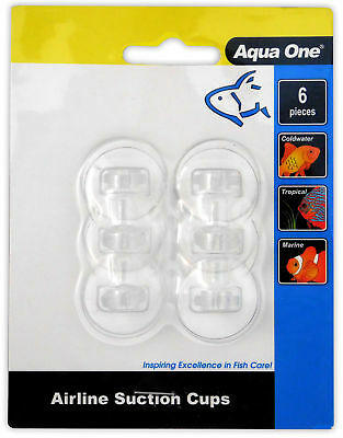 Aqua One Airline Suction Cups (6pk) Coldwater Tropical Marine Aquarium Fish Tank