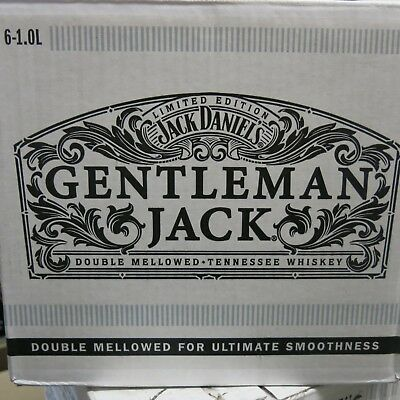 Jack Daniels Gentleman Jack Time Piece  1 Ltr Gift Boxed 6 Pack Limited Edition