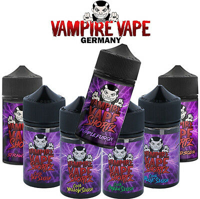 SHAKE AND VAMPIRE VAPE SHORTZ 50ml E-Liquid in 75ml Liquidflasche + Nikotin Shot