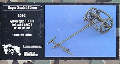 VERLINDEN PRODUCTIONS #1094 Napoleonic Limber for 8LBS Canon in 1:16