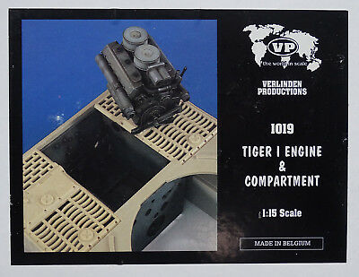 VERLINDEN PRODUCTIONS #1019 Engine & Compartment for Tiger I in 1:15