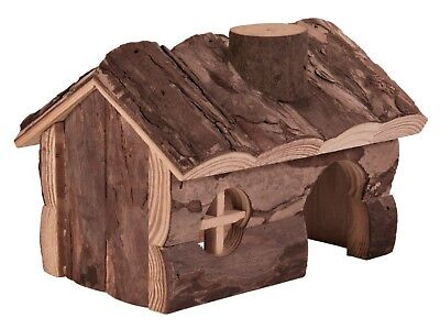 Trixie  Natural Wooden Hamster Cage Pet House - 2 Sizes