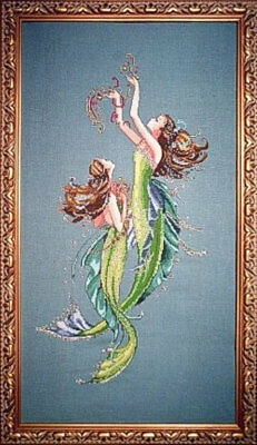MIRABILIA Cross Stitch PATTERN ONLY MD85 Mermaids of the Deep Blue