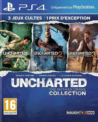 PS4 Game Uncharted the Nathan Drake Collection 1-3 New Product