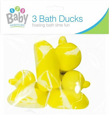 3 x Baby Bath Time Small Plastic Duck Set Fun Toys Water Play Toddlers Kids