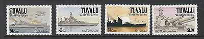 TUVALU 1991 World War 11 Ships MUH