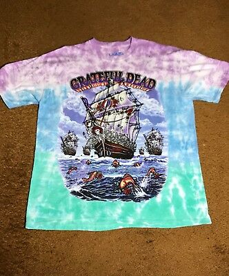 Grateful Dead Ship Of Fools ~Double Sided Tie Dye T-Shirt Brand New Size X-Large