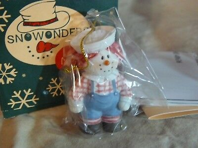 "Sarah's Attic SnoWonders Moppets ""Dustie Ornament""  #9223 With Packaging C.2001"