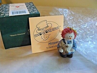 "Sarah's Attic SnoWonders Moppets ""Mopsie Ornament""  #9222 With Packaging C.2001"