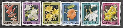 TUVALU 1990 Flowers Set of 6 MUH