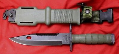 ONTARIO M9 Military Bayonet/Fighting Knife & Scabbard