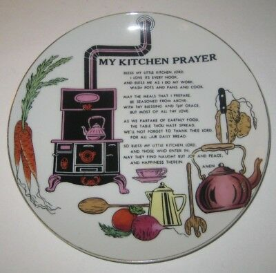 MY KITCHEN PRAYER Decorative PLATE Vintage GIFTCRAFT JAPAN Pottery WALL Decor