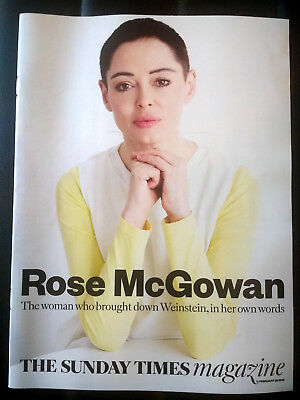 ROSE McGOWAN Sunday Times Magazine 25/2/2018 Neil Gaiman, North Korea, Superdry