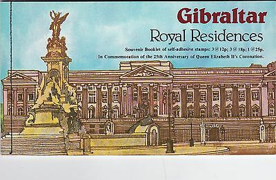 Gibraltar 1978 25th anniversary of the Coronation  Stamp Booklet Mint SG SB5