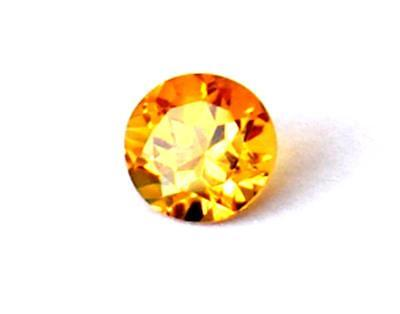 8 Mm Flawless Citrine Faceted Fine Round Cut Natural Gemstone #1069