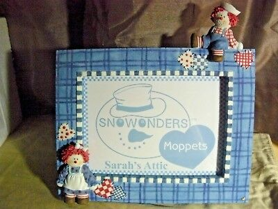 "Sarah's Attic SnoWonders Moppets ""5x7 Picture Frame""  #9226  C.2001"