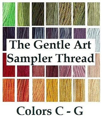 The Gentle Art Sampler Thread CHOOSE Colors C - G **Buy 15+ for FREE SHIPPING**