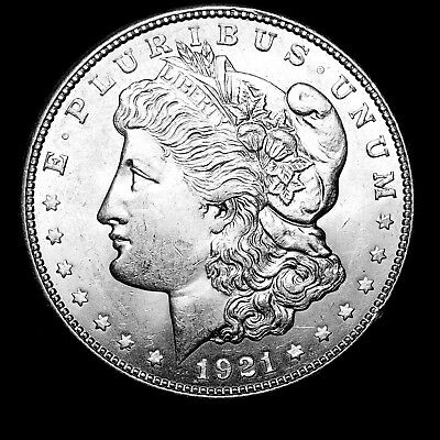 1921 D ~**ABOUT UNCIRCULATED AU++**~ Silver Morgan Dollar Rare US Old Coin! #420