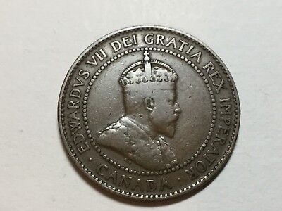CANADA 1908 1 Cent coin nice condition