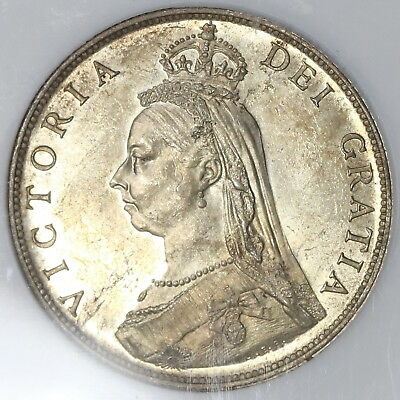 1887 NGC MS 63 Silver Florin Victoria 2 Shilling GREAT BRITAIN Coin (15110301D)