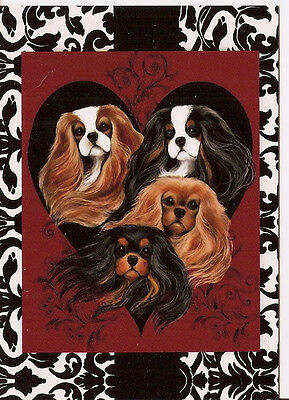 Elegant & Thank You Cavalier King Charles Blank note cards Colors of the Heart