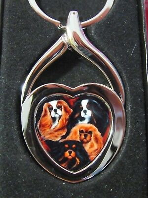 COLORS OF THE HEART Key Chain/Pendant Cavalier King Charles Spaniel