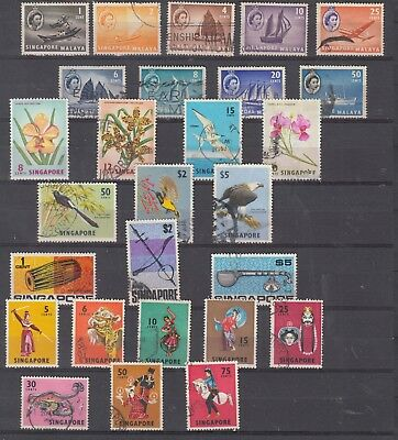 SINGAPORE Stamp Collection with Higher Values to $5 USED
