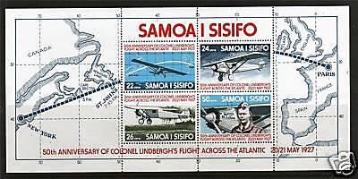 Samoa 1977 Lindberg's Flight MS SG487 MNH