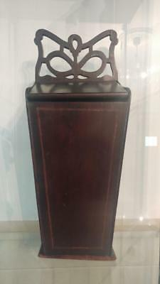 Handsome Georgian Tapering Butterfly Fretwork Hanging Candle Box C 1800+