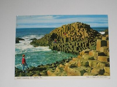Vintage Real Photocard:Giant's Causeway,Co. Antrim Ireland. J.Hinde,Posted 1963