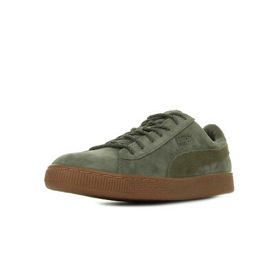official photos ddd4a 6ae29 Chaussures Baskets Puma homme Basket Classic Winterized taille Vert olive  Verte