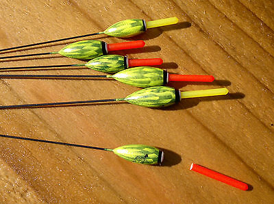6 x New RF104 Rizov Hand Made Pole Floats with Interchangeable Tips
