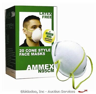 Lot (40) N95 Cone-Style Industrial Face/Dust Mask NEW --- bidadoo Auctions