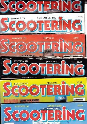 Various Issues of SCOOTERING Magazine from March 2000 to December 2005