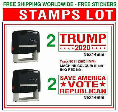 DONALD TRUMP Still Lives Here,White House,US Patriotic Rubber Stamp FREE P Badge