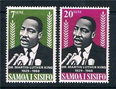Samoa 1968 Martin Luther King SG 313/4 MNH