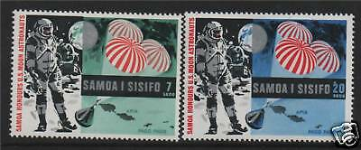Samoa 1969 Ist Man on Moon SG 330/1 MNH