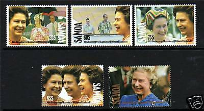 Samoa 1992 Queen's 40th Anniv Accession SG876/80 MNH