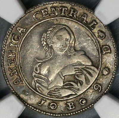 1849 NGC VF 30 COSTA RICA Silver 1 Real Coffe Tree & Woman Coin (18052503C)