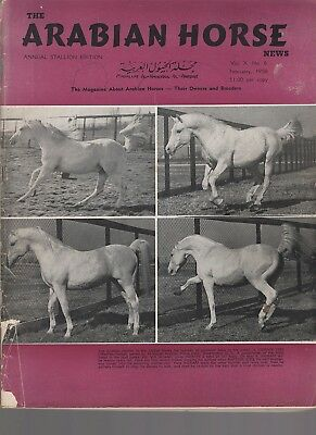 The Arabian Horse News Feb. 1958 Indraff on the cover