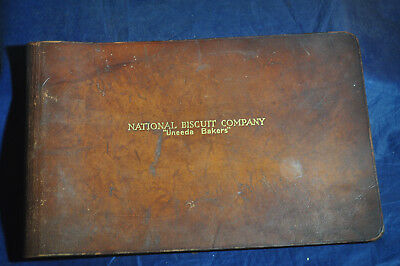 Ca 1920-1930 *RARE* National Biscuit Company UNEEDA BISCUIT Leather Order Book