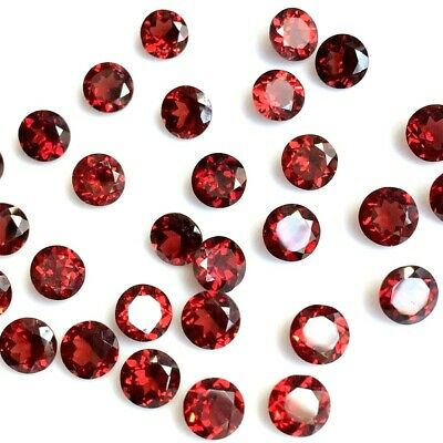 Lot of 2mm to 6mm Round Natural Mozambique Garnet Loose Calibrated Gemstone