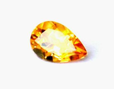 Faceted Cut Stone Flawless Citrine Pear 7X10 Mm Natural Gemstone #1073