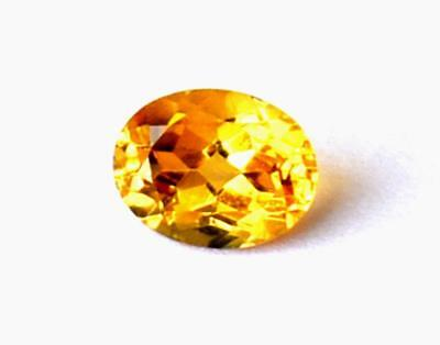 Perfect Oval Cut Stone Natural Flawless Citrine 7X9 Mm Loose Gemstone #1079