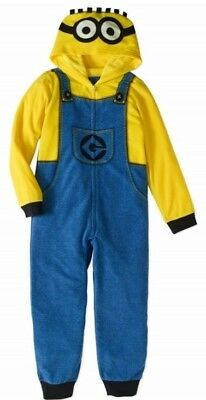 Despicable Me Pajamas Boys 14/16 NeW Zip-Up Hooded Blanket Fleece Pjs Disney NWT