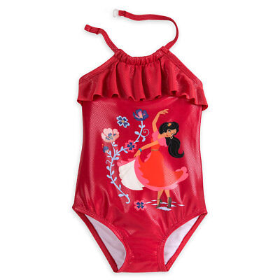 d459a1ebd5 Disney Authentic Elena of Avalor Deluxe 1pc Swimsuit Girls Size 5/6 New