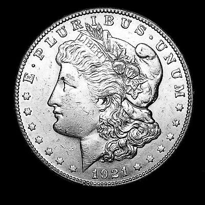 1921 S ~**ABOUT UNCIRCULATED AU**~ Silver Morgan Dollar Rare US Old Coin! #153