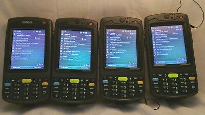 Lot of 4 Motorola Symbol MC7090-PK0DCRQA8WR High Memory Datawedge Scanner 4x